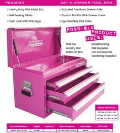 16 Best Pink Tool Box Images Pink Tool Box Pink Stuff Everything