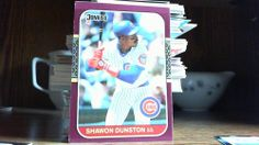 DONRUSS 1987 SHAWON DUNSTON CARD # 76 CUBS (FREE REFLECTIVE STICKER)