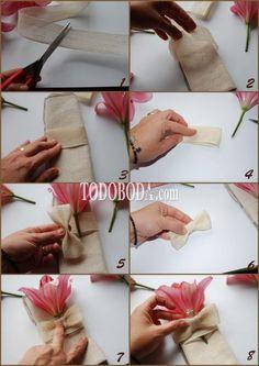 DIY. Servilleteros campestres -TodoBoda.com - - Destacada: