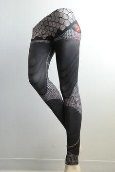 Armour Leggings Size S Gunmetal Black Printed by Mitmunk on Etsy, $79.00