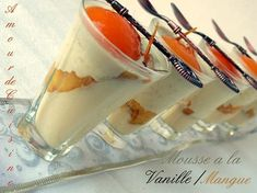 Panna Cotta, Sweet Pastries, Baking And Pastry, Tiramisu, Cheesecake, Mango, Deserts, Vanilla, Ethnic Recipes