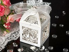 50 Pack White Love Birds Laser Cut Favor Candy Box Bomboniere with Ribbons Bridal Shower Wedding Party Favors Generic http://www.amazon.com/dp/B00KIFLSC6/ref=cm_sw_r_pi_dp_a-sovb19JPZWQ