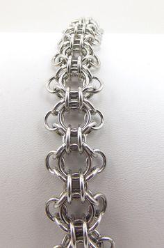 Silver Captive Zen Chainmaille Bracelet by EdgeMetalElegance