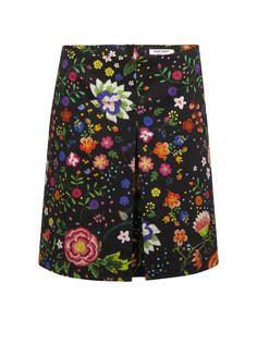 Naf naf nouvelle co h15 jupe motif à fleurs imprime 1