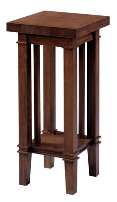 Dana Thomas Plant Stand from the Copeland Frank Lloyd Wright Fine Furniture collection. High quality, natural wood furniture handcrafted in Vermont. Shown in Parkton Oak wood.