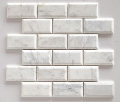 grey and white marbled subway tile for kitchen