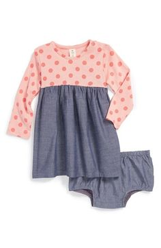 Tucker + Tate Knit & Chambray Dress & Bloomers (Baby Girls) available at #Nordstrom