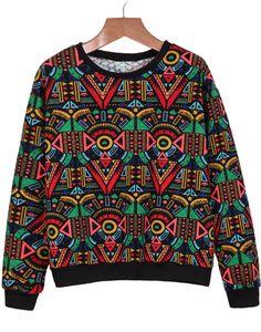 Shop Red Long Sleeve Geometric Print Sweatshirt online. Sheinside offers Red Long Sleeve Geometric Print Sweatshirt & more to fit your fashionable needs. Free Shipping Worldwide!