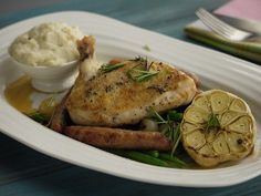 Garlic Chicken with Bread Sauce