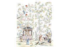 One Kings Lane - Paul Montgomery - Set of 2 Royal Garden Artwork Panels