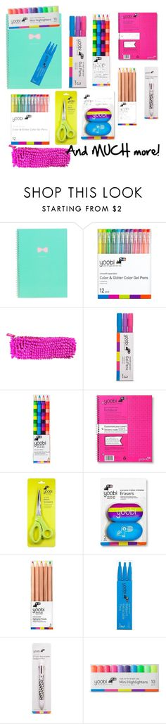 """""""School supplies"""" by isabellemarie12 ❤ liked on Polyvore featuring interior, interiors, interior design, home, home decor, interior decorating and Yoobi"""