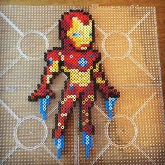 Iron Man perler beads by jawsan