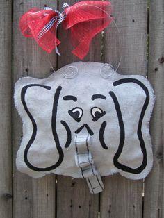 Burlap Alabama Roll Tide Elephant  Burlap Door by nursejeanneg, $28.00