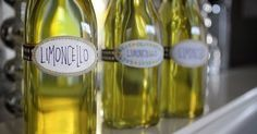 homemade limoncello from shutterbean Making Limoncello, Limoncello Recipe, Homemade Limoncello, Italian Drinks, Lemon Uses, Cocktails, Yummy Eats, Homemade Gifts, Appetizers