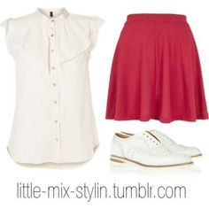 little mix inspired valentines day school outfit Little Mix Outfits, Little Mix Style, Cute Outfits, My Style, Teen Fashion, Valentines, Polyvore, Senior Year, How To Wear