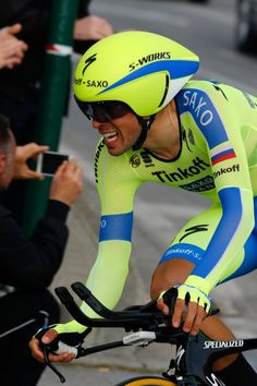 Alberto Contador on the course. Cycling Wear, Pro Cycling, Bicycle Helmet, Bike, Cyclists, Grand Tour, World Championship, Racing, Hs Sports
