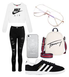 """Untitled #2"" by stancuriana on Polyvore featuring NIKE, adidas and Tommy Hilfiger"