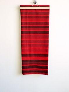 Marimekko fabric / red maroon black spice tones / by sukoshishop