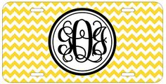 Personalized Monogrammed Chevron Yellow Vine License Plate Auto Tag Top Craft Case http://www.amazon.com/dp/B00OMQCTEI/ref=cm_sw_r_pi_dp_0Lotub1KGN6H3