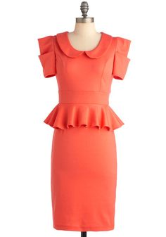 Work with Me Dress in Coral, #ModCloth