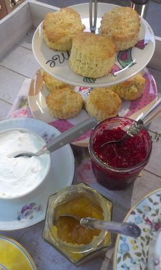 Scones with home made jams
