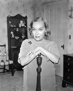 Actress Gloria Swanson photographed at her home in New York City in 1965. Description from gettyimages.com. I searched for this on bing.com/images