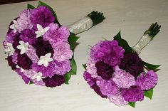 Purple Carnation Wedding Bouquets