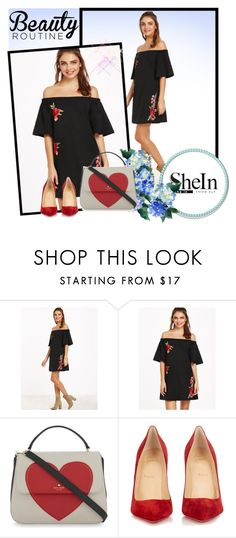 """Sheinside Contest"" by ludicaa678 ❤ liked on Polyvore featuring Kate Spade and Christian Louboutin"
