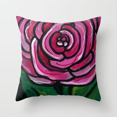 Ranunculus Blossom Throw Pillow by Claudine Intner Floral Throw Pillows, Mixed Media Artists, Ranunculus, Pillow Inserts, Art Decor, Indoor, Colorful, Cover, Painting