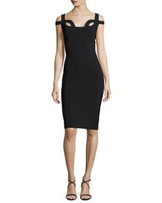 TVPBN Chiara Boni La Petite Robe Every Sleeveless Cutout Jersey Cocktail Dress