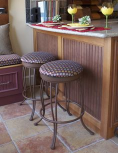 Barstools for sale at the Renovisions Showroom. Your choice of style, color and fabric!