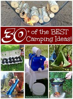 Over 30 of the BEST Camping Ideas, Hacks, Gear, Tips, & Tricks. Everything you need to make your camping trip absolutely amazing!