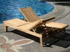 If you want a seriously high-quality piece of wood furniture for your patio, look no further than this teak double sun lounger. It's built like two solid chaise lounge chairs placed side by side. Contemporary Outdoor Furniture, Diy Outdoor Furniture, Wood Furniture, Double Sun Lounger, Rustic Farmhouse Furniture, Distressed Furniture Painting, Bedroom Furniture Makeover, Teak, Patio