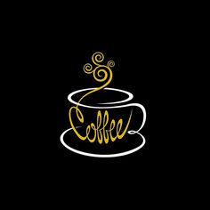 Tea Logo, Coffee Shop Logo, Coffee Shop Design, Coffee Cup Art, Coffee Love, Coffee Break, Design Vector, Logo Design, Cafe Logo
