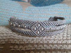 Sterling Silver 925 Bead Macrame Knot Cuff Bracelet by JapanFan available on etsy