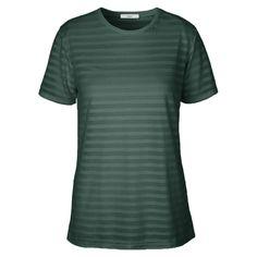 Stig P T-shirt, Anne-Sofie m/Striber, Støvet Grøn