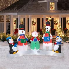 Ft santa snoopy christmas inflatable airblown peanuts lighted yard