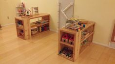 First Project Our Playroom Shelves! | Do It Yourself Home Projects from Ana White
