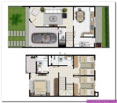 Plantas de Casas com Quartos de Cima 2