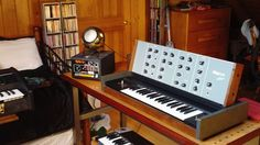the ultra rare Ampron Aubade mono analog synthesizer