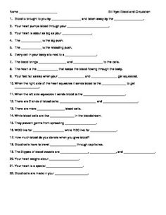 Bill Nye Blood Circulation Video Guide Sheet | Bill nye, Nye and ...