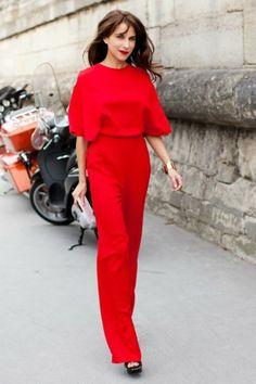 Como vestir vermelho, total red