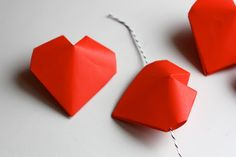 3D origami hearts | How About Orange