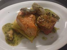 Degustacion de pescados , salmon, chernia, mero y atun rojo