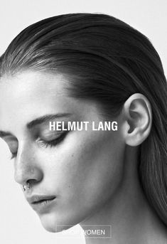 Beauty in the simplicity of black and white. Fashion Advertising, Advertising Campaign, Up Hairdos, Brand Campaign, Helmut Lang, Fashion Branding, Portrait, Editorial Fashion, Fashion Photography