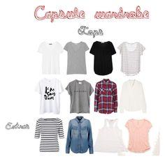 """My capsule wardrobe - tops"" by mchlk on Polyvore featuring moda, rag & bone, American Vintage, Tart, 7 For All Mankind, Vanessa Bruno, Aerie, Topshop, Splendid i John Lewis"