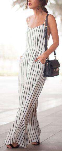 Street style | White blouse, pants, belt, heels, clutch