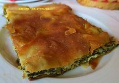 Μαζί με το πράσο και το κρεμμύδι δημιουργούν μια από  τις πιο νόστιμες πίτες!!   ΥΛΙΚΑ:   1 κιλό σπανάκι  1 χούφτα σέσκουλο  2 πράσα ... Spanakopita, Aesthetic Food, Greek Recipes, Bakery, Pie, Breakfast, Ethnic Recipes, Desserts, Kitchen