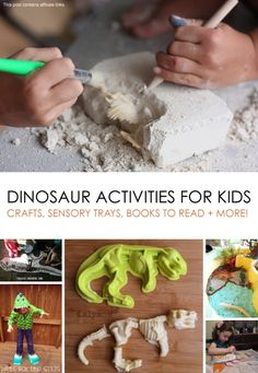 30+ Awesome Dinosaur Activities for Kids ... ROAR! *Great list. #9 is my fav.