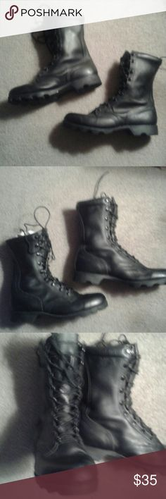 Brand New  Mens Military combat boots Never worn very comfortable boots.all leather original Military combat boots Shoes Boots